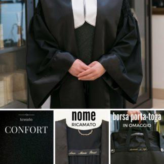 Toga avvocato pratica tessuto confort ideale per avvocato donna