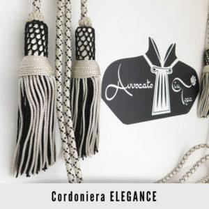 Cordoniera per Avvocato semplice Argento Nero elegance