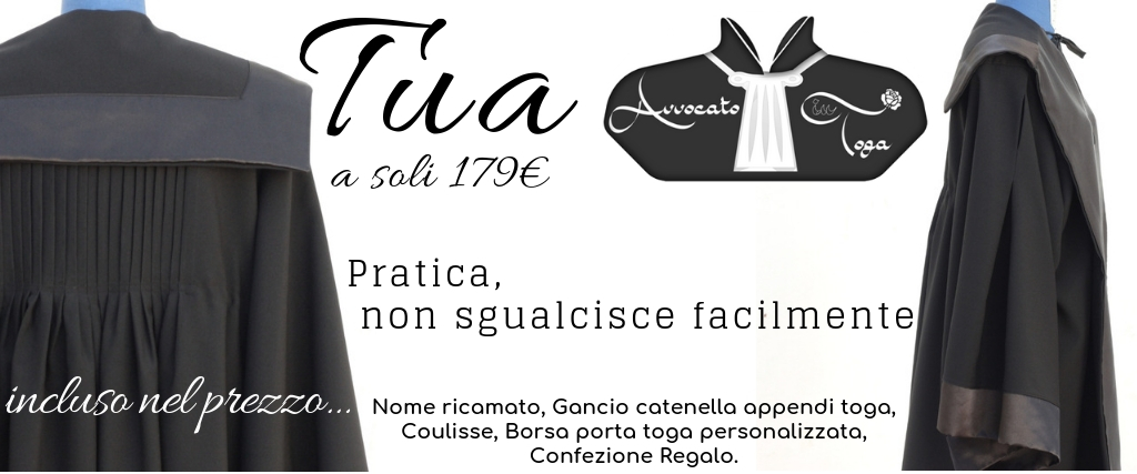 toga forense in offerta