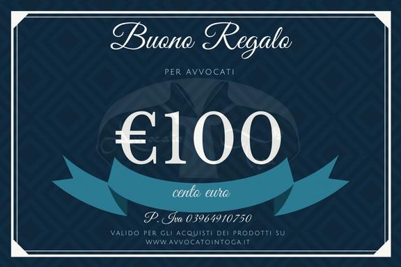 buono regalo per avvocato del valore di cento euro