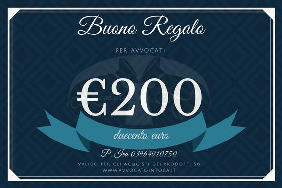 buono regalo per avvocato del valore di duecento euro