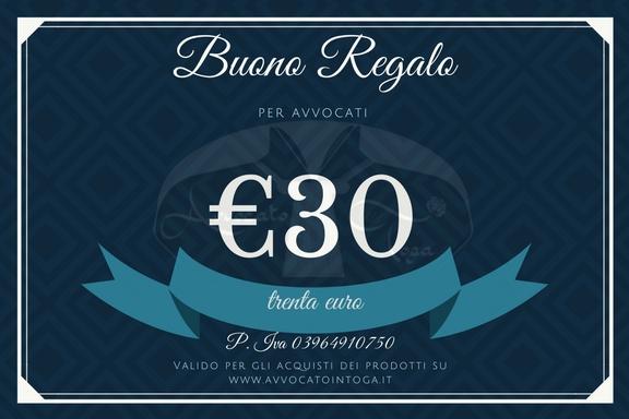 buono regalo per avvocato del valore di trenta euro
