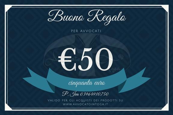 buono regalo per avvocato del valore di cinquanta euro