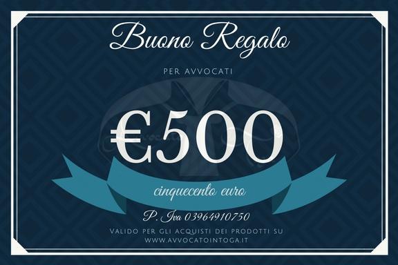 buono regalo per avvocato del valore di cinquecento euro