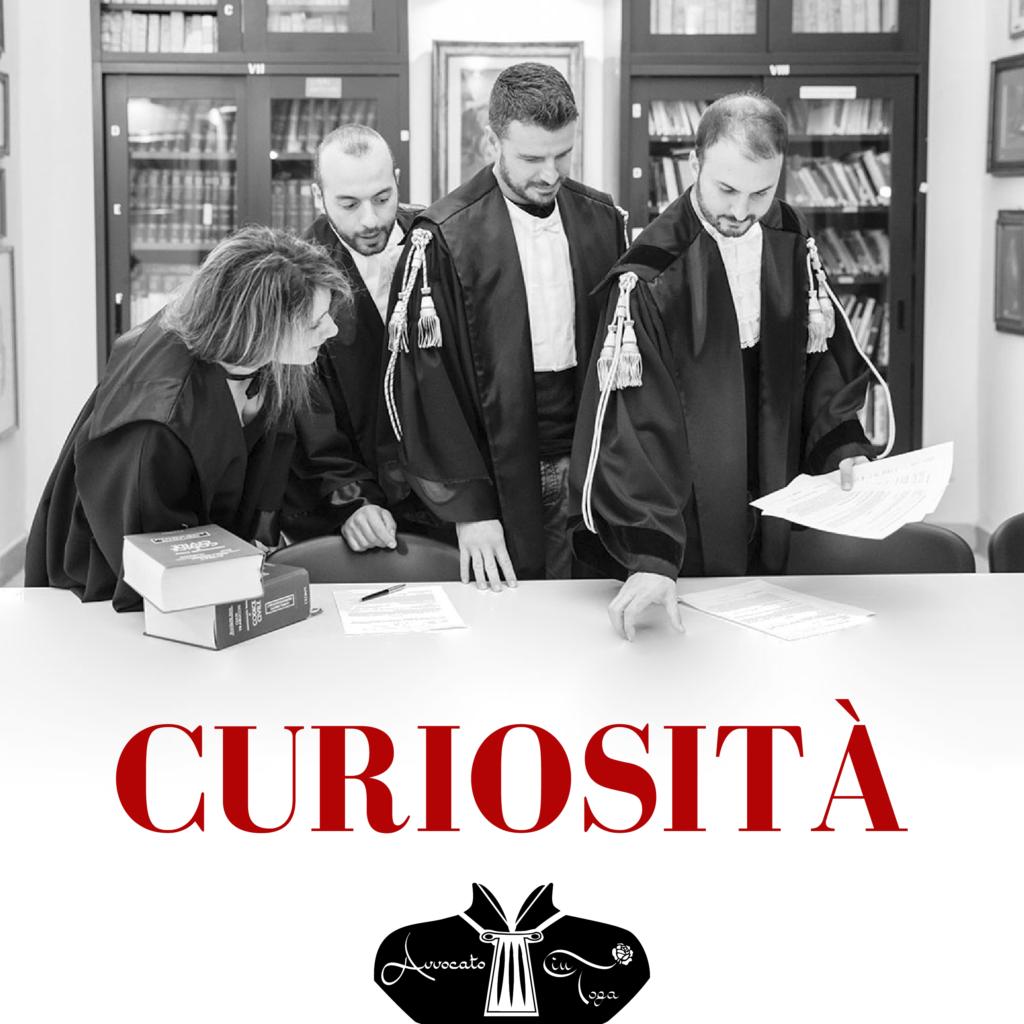 curiosità toga- curiosità avvocato- curiosità