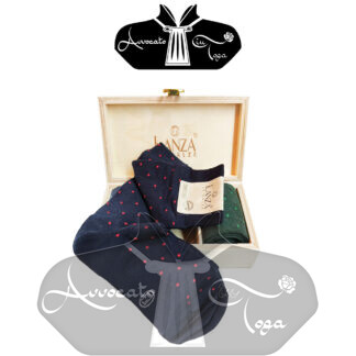 Calze-uomo-in-caldo-cotone-fleur-de-lis-confezione-regalo-in-legno